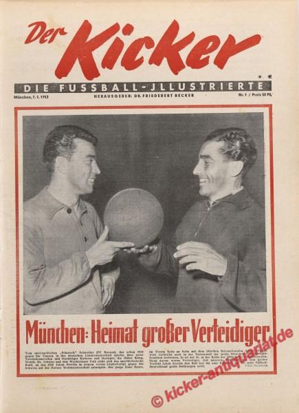 Kicker Nr. 1, 7.1.1952 bis 13.1.1952
