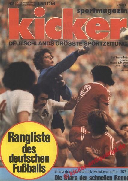 Kicker Sportmagazin Nr. 52, 30.6.1975 bis 6.7.1975