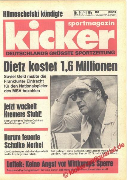 Kicker Sportmagazin Nr. 21, 11.3.1976 bis 17.3.1976
