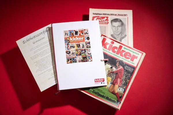 Kicker Geschenkmappe + Echtheitszertifikat