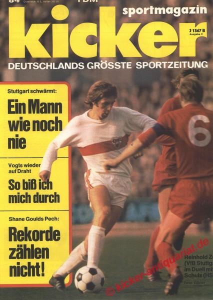 Kicker Sportmagazin Nr. 84, 16.10.1972 bis 22.10.1972