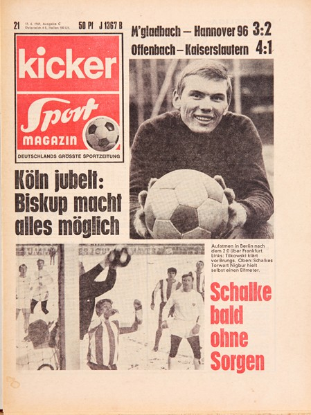 Kicker Sportmagazin Nr. 21, 13.3.1969 bis 19.3.1969