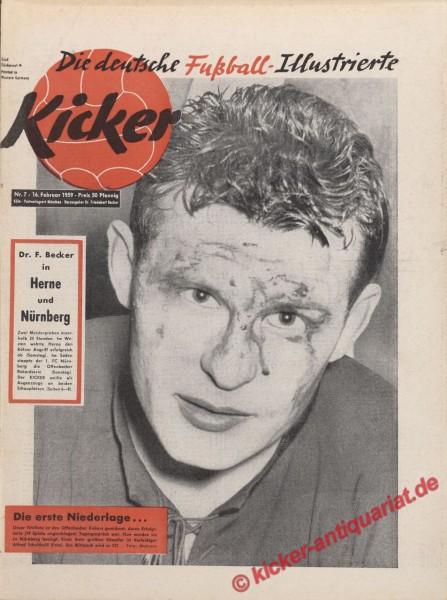 Kicker Nr. 7, 16.2.1959 bis 22.2.1959