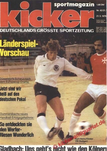 Kicker Sportmagazin Nr. 42, 21.5.1979 bis 27.5.1979