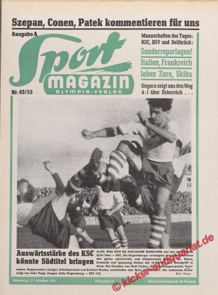 Sportmagazin Nr. 42A, 17.10.1955 bis 23.10.1955