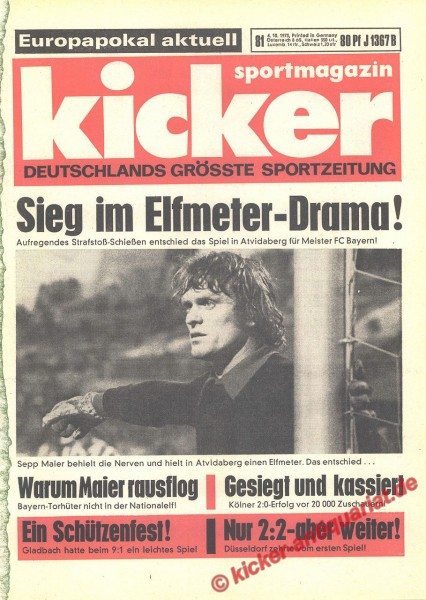 Kicker Sportmagazin Nr. 81, 8.10.1973 bis 14.10.1973