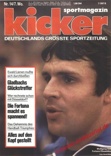Kicker Sportmagazin Nr. 14, 13.2.1978 bis 19.2.1978
