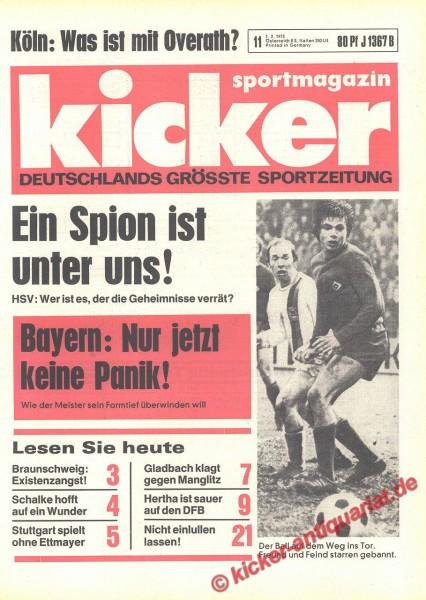 Kicker Sportmagazin Nr. 11, 1.2.1973 bis 7.2.1973