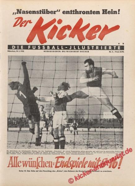 Kicker Nr. 2, 14.1.1952 bis 20.1.1952