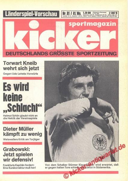 Kicker Sportmagazin Nr. 81, 6.10.1977 bis 12.10.1977