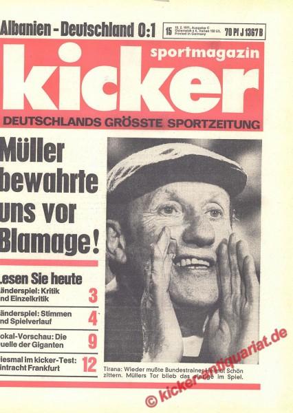 Kicker Sportmagazin Nr. 15, 18.2.1971 bis 24.2.1971