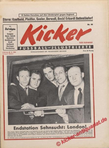 Kicker Nr. 48, 29.11.1954 bis 5.12.1954