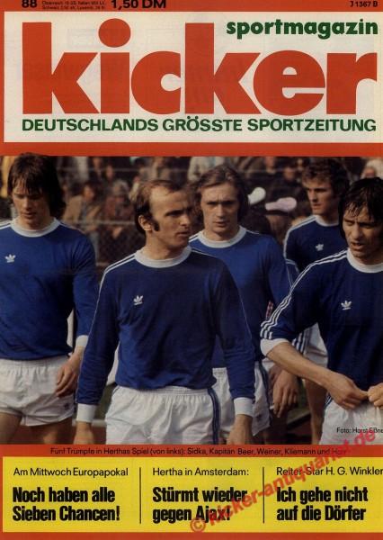 Kicker Sportmagazin Nr. 88, 3.11.1975 bis 9.11.1975