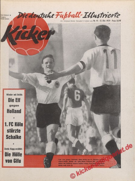 Kicker Nr. 41, 12.10.1959 bis 18.10.1959