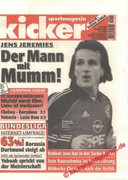 Kicker Sportmagazin Nr. 29, 6.4.2000 bis 12.4.2000
