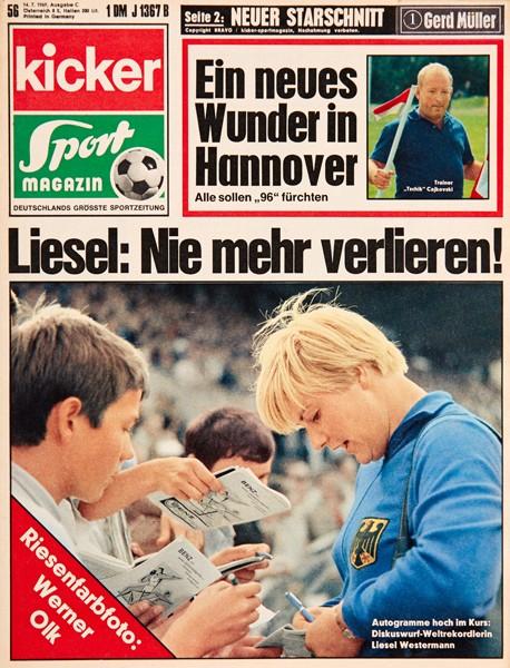 Kicker Sportmagazin Nr. 56, 13.7.1969 bis 19.7.1969