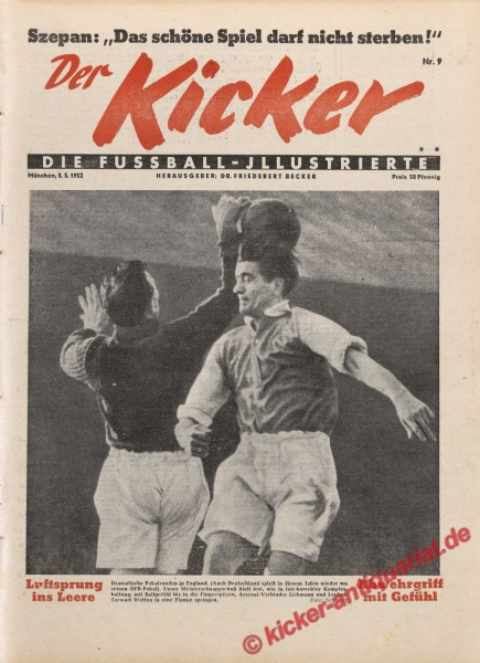 Kicker Nr. 9, 3.3.1952 bis 9.3.1952