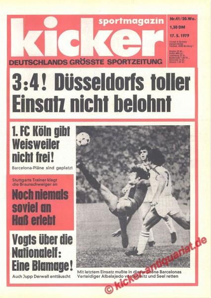 Kicker Sportmagazin Nr. 41, 17.5.1979 bis 23.5.1979