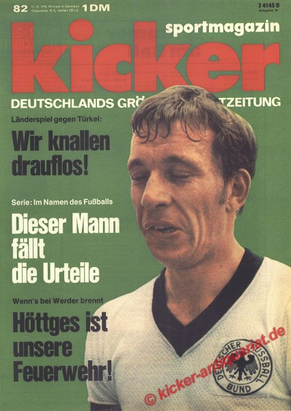 Kicker Sportmagazin Nr. 82, 12.10.1970 bis 18.10.1970
