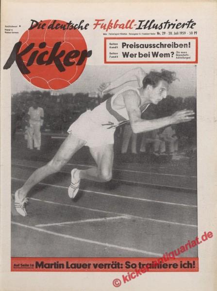 Kicker Nr. 29, 20.7.1959 bis 26.7.1959