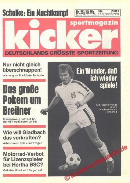 Kicker Sportmagazin Nr. 25, 24.3.1977 bis 30.3.1977