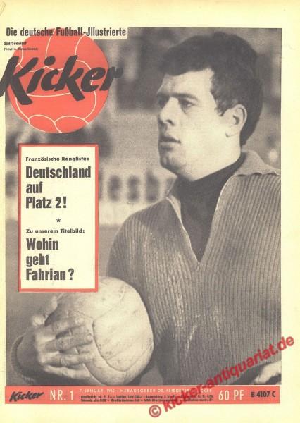 Kicker Nr. 1, 7.1.1963 bis 13.1.1963