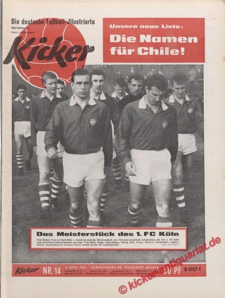 Kicker Nr. 14, 2.4.1962 bis 8.4.1962