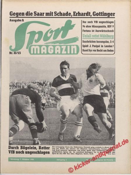 Sportmagazin Nr. 41A, 7.10.1953 bis 13.10.1953