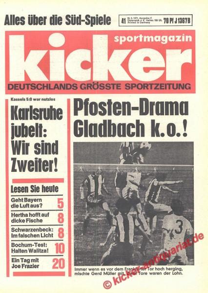 Kicker Sportmagazin Nr. 41, 20.5.1971 bis 26.5.1971