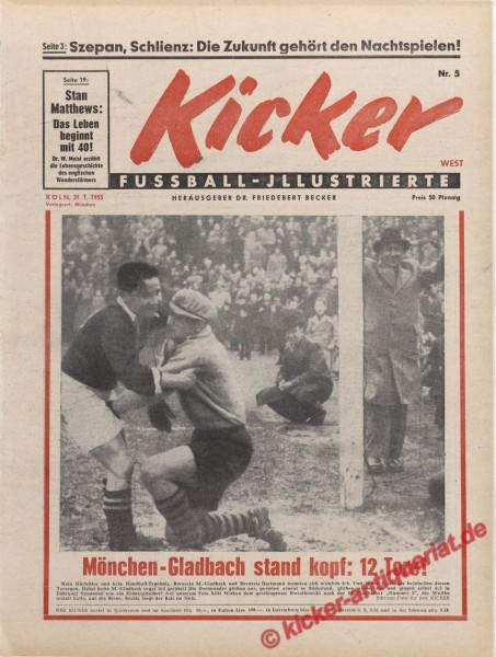 Kicker Nr. 5, 31.1.1955 bis 6.2.1955