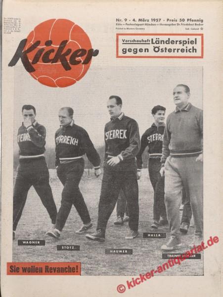 Kicker Nr. 9, 4.3.1957 bis 10.3.1957