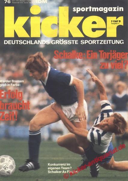 Kicker Sportmagazin Nr. 76, 20.9.1971 bis 26.9.1971