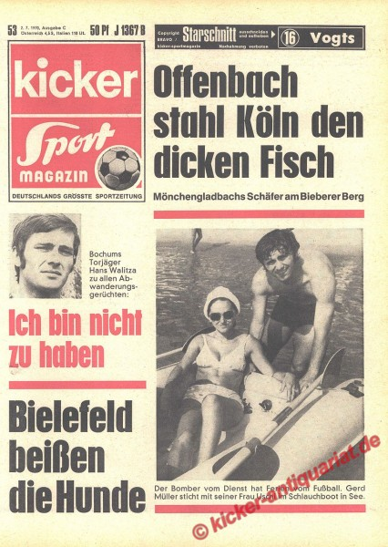 Kicker Sportmagazin Nr. 53, 2.7.1970 bis 8.7.1970