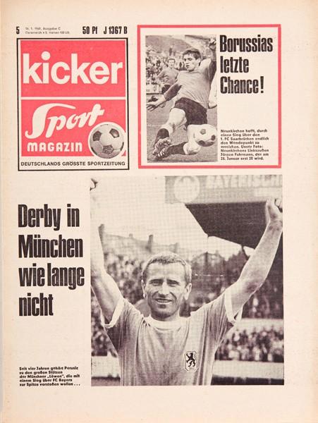 Kicker Sportmagazin Nr. 5, 16.1.1969 bis 22.1.1969