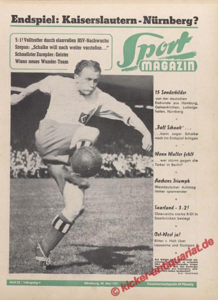 Sportmagazin Nr. 22, 30.5.1951 bis 5.6.1951