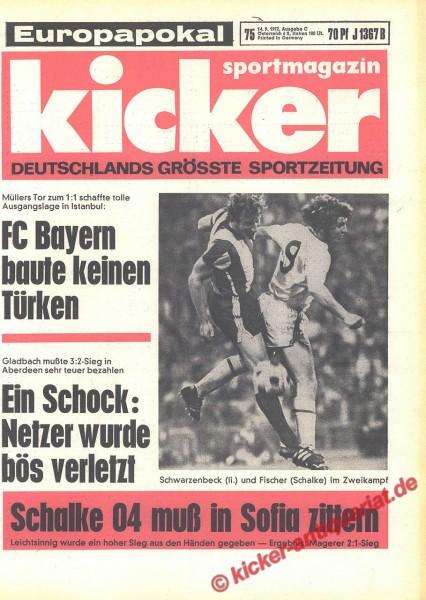 Kicker Sportmagazin Nr. 75, 14.9.1972 bis 20.9.1972