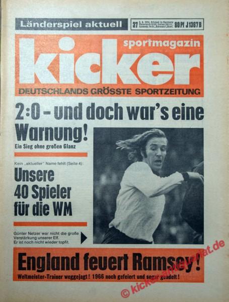 Kicker Sportmagazin Nr. 37, 2.5.1974 bis 8.5.1974