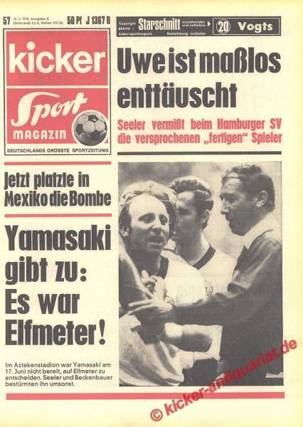 Kicker Sportmagazin Nr. 57, 16.7.1970 bis 22.7.1970