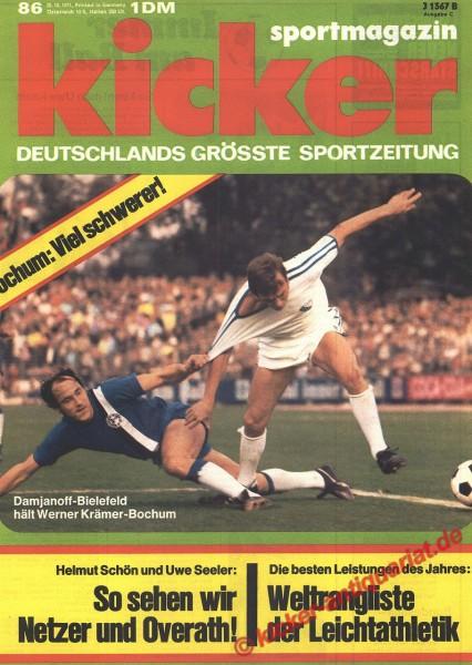 Kicker Sportmagazin Nr. 86, 25.10.1971 bis 31.10.1971