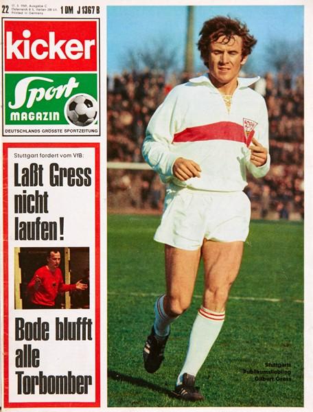 Kicker Sportmagazin Nr. 22, 17.3.1969 bis 23.3.1969