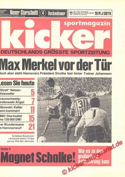 Kicker Sportmagazin Nr. 77, 23.9.1971 bis 29.9.1971