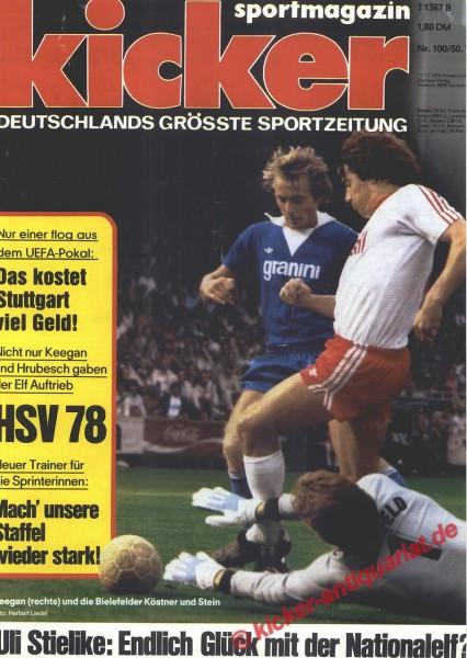 Kicker Sportmagazin Nr. 100, 11.12.1978 bis 17.12.1978