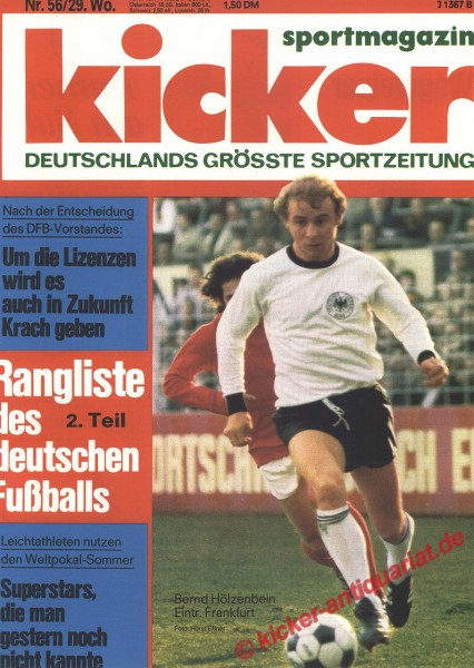 Kicker Sportmagazin Nr. 56, 11.7.1977 bis 17.7.1977