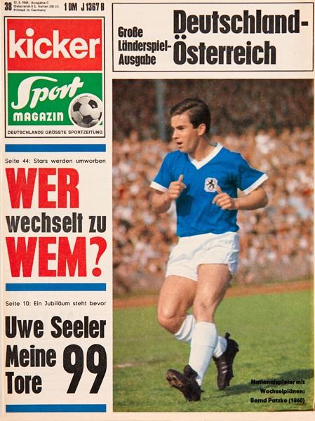 Kicker Sportmagazin Nr. 38, 12.5.1969 bis 18.5.1969