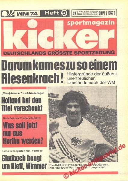 Kicker Sportmagazin Nr. 57, 11.7.1974 bis 17.7.1974