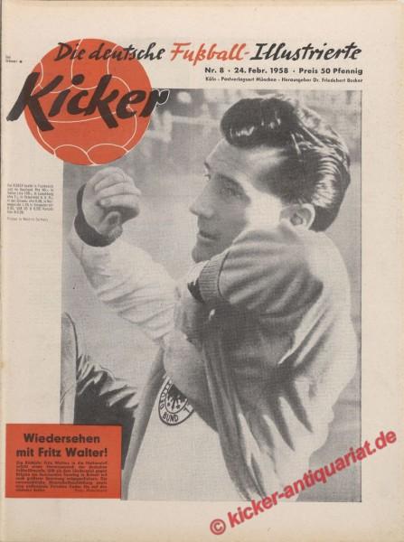 Kicker Nr. 8, 24.2.1958 bis 2.3.1958