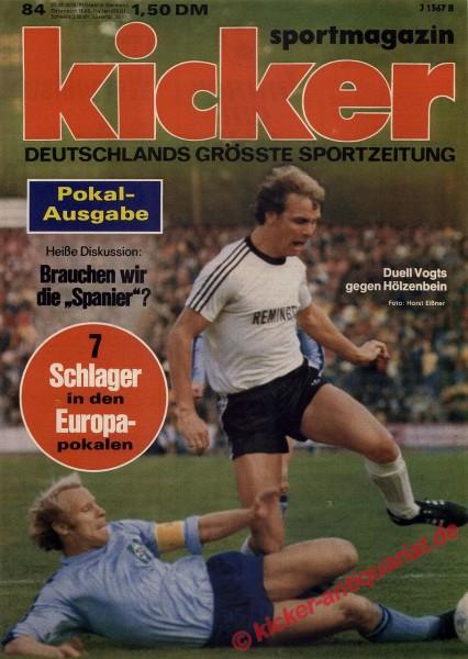 Kicker Sportmagazin Nr. 84, 20.10.1975 bis 26.10.1975
