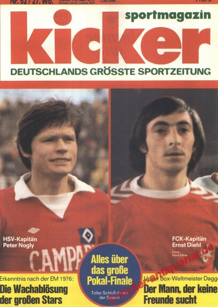 Kicker Sportmagazin Nr. 52, 28.6.1976 bis 4.7.1976
