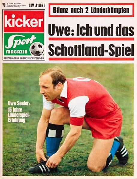 Kicker Sportmagazin Nr. 78, 29.9.1969 bis 5.10.1969