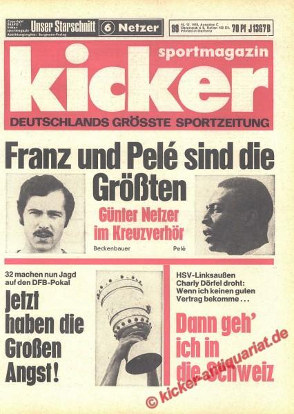 Kicker Sportmagazin Nr. 99, 10.12.1970 bis 16.12.1970
